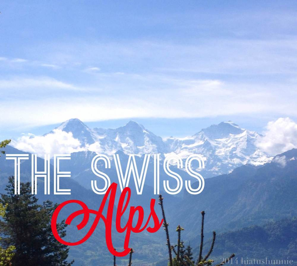 Left to Right: Eiger, Mönch, and Jungfrau.