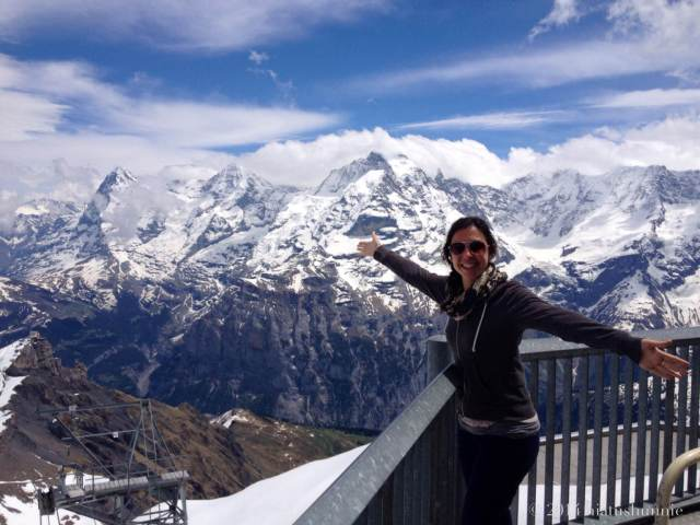 At the top of Schilthorn!