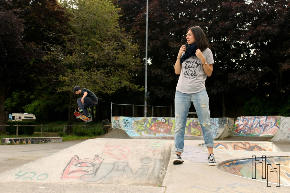 This was before my freaked out face. That skater came out of NO WHERE.